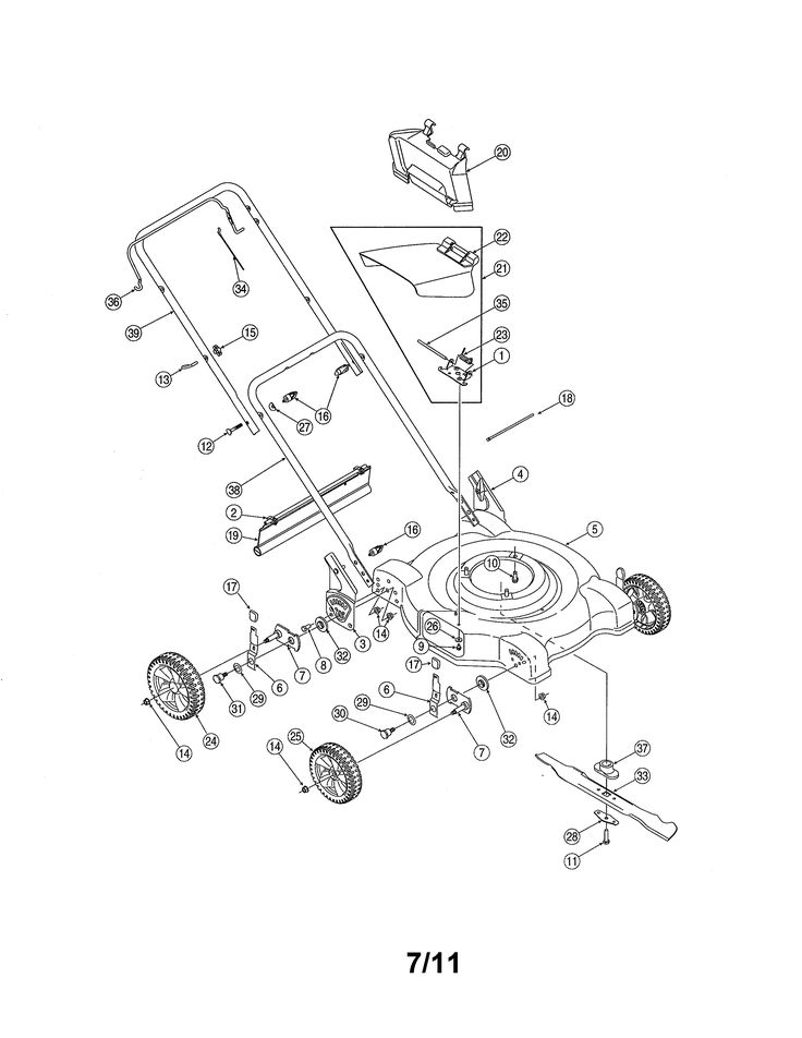 Mtd Push Mower Engine Diagram