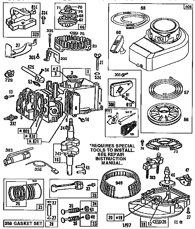 Briggs And Stratton 92200 Series Parts List And Diagram
