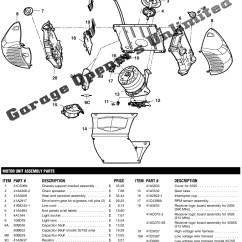 Garage Door Wiring Diagram For 2 Pickup Guitar Chamberlain Opener Parts Automotive