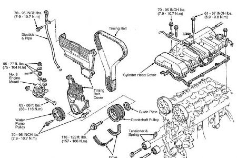 Collection Mazda 626 Engine Parts Diagram Pictures