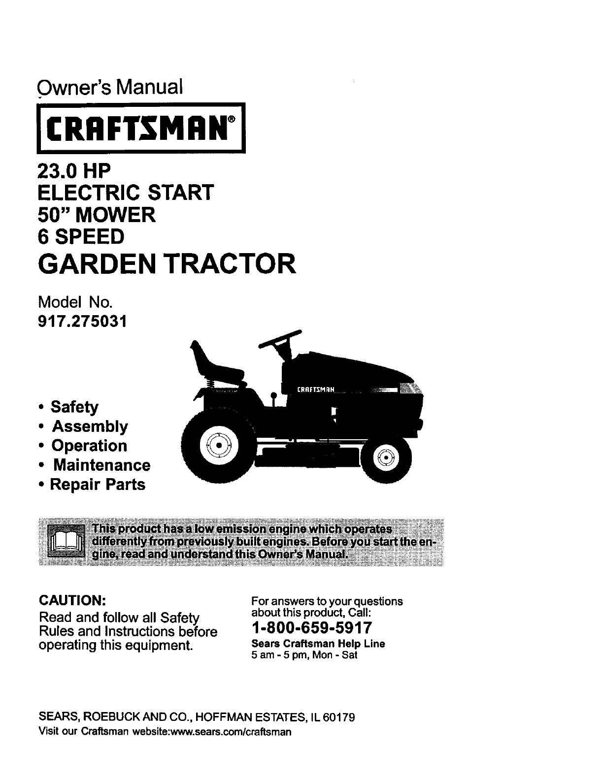 Hood Diagram And Parts List For Craftsman Ridingmowertractorparts