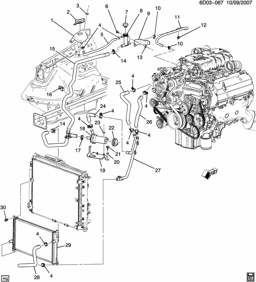 2006 Cadillac Sts    Engine       Diagram      Wiring Schematic