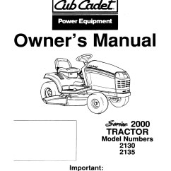 Cub Cadet 1045 Wiring Diagram 2003 Honda Civic Car Stereo Radio Mower Deck Parts Automotive