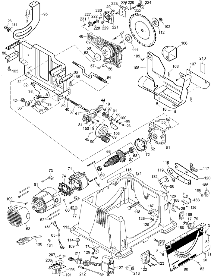 Wiring Diagram Dewalt Table Saw