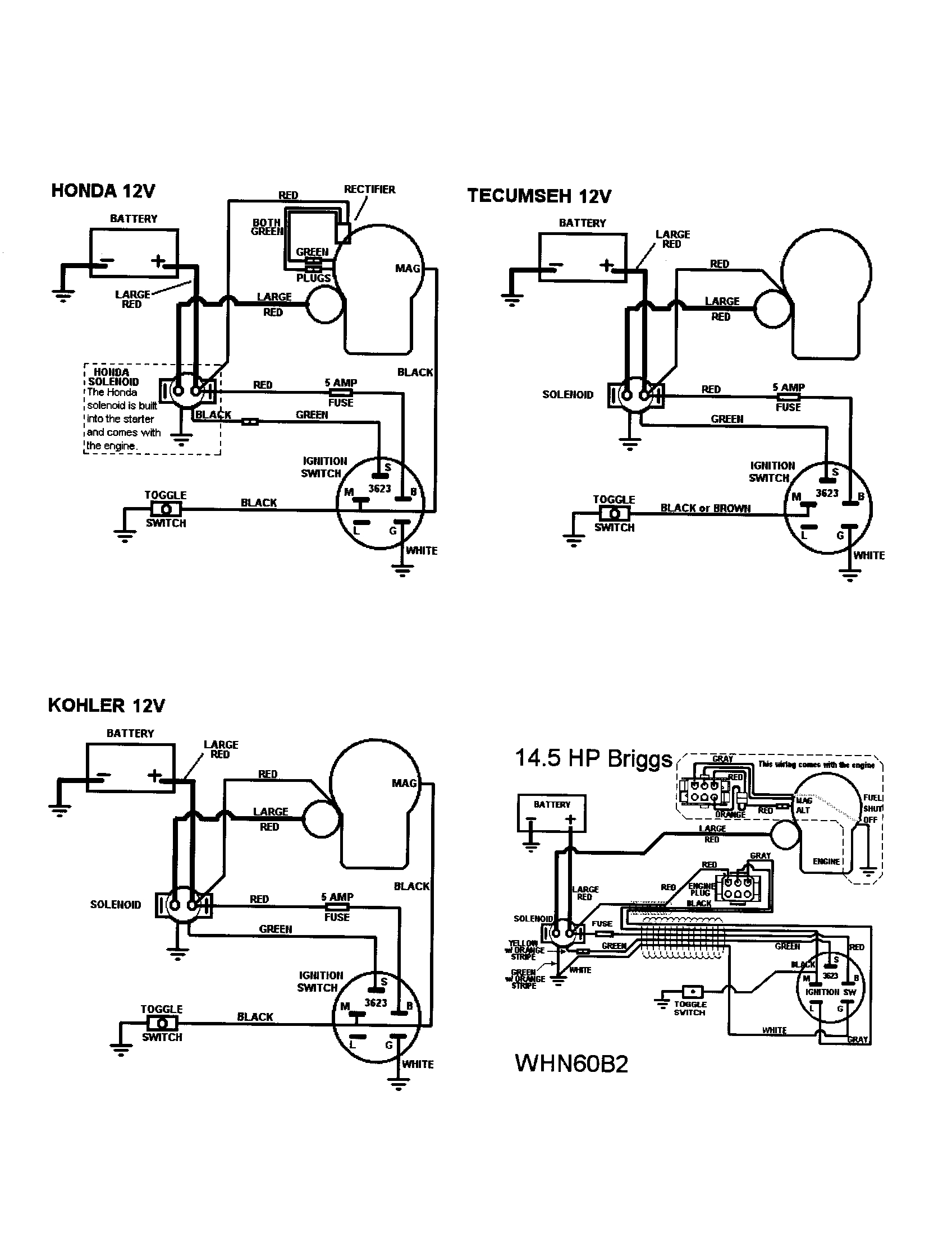 Cub Cadet Electrical Schematics