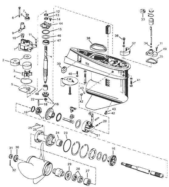 Evinrude / Johnson Outboard Parts Drawings within Johnson