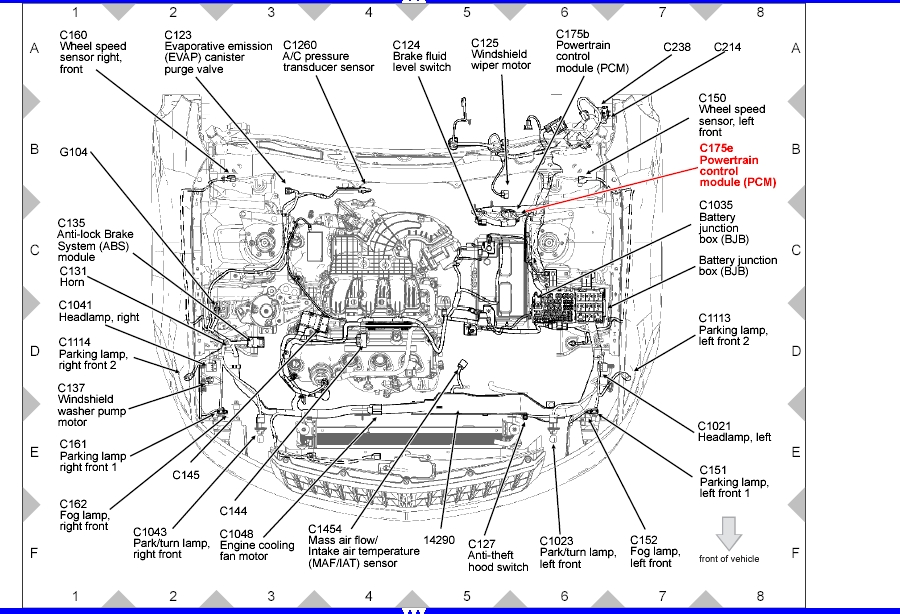2001 Ford Taurus Engine Diagram Within Ford Wiring And