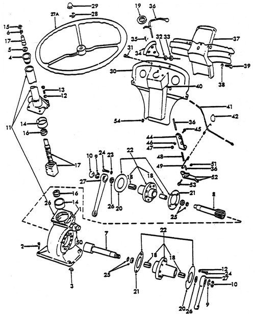Ford 3000 Tractor Steering Diagram. Ford. Auto Wiring Diagram