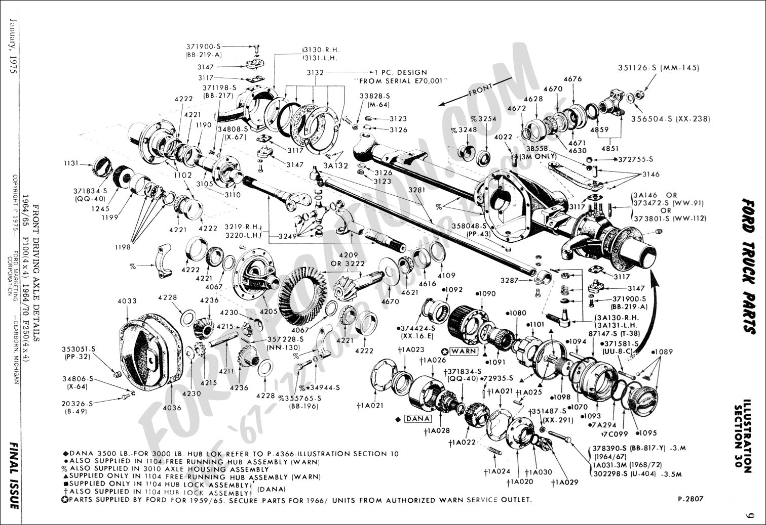 ford dana 60 front axle diagram