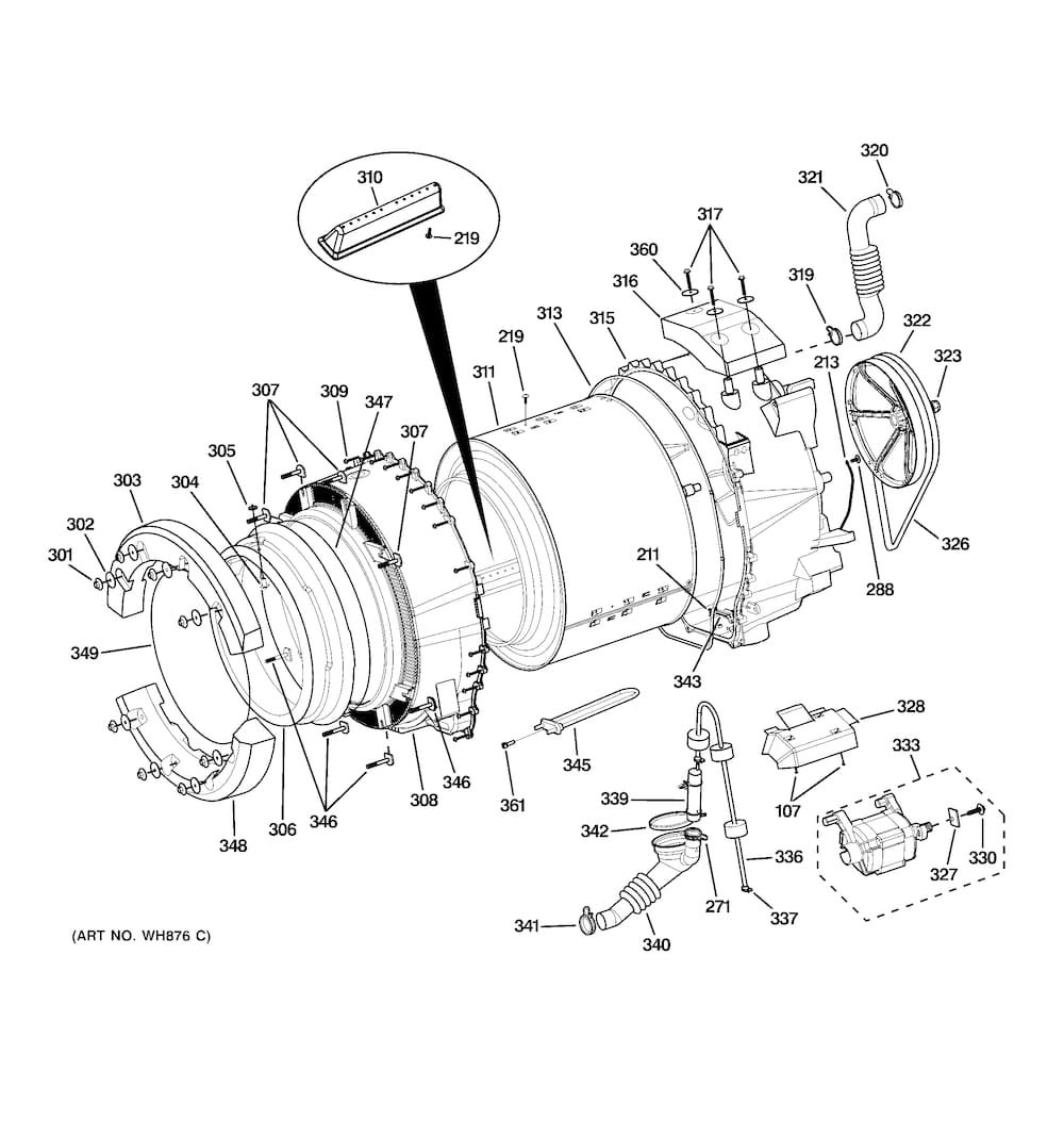 Wiring Diagram: 34 Ge Front Load Washer Parts Diagram