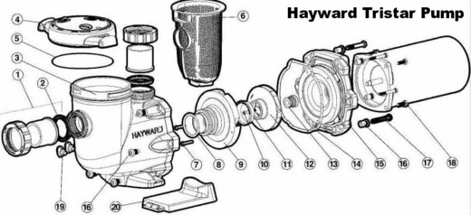 Hayward Tristar Inground Pool Pump