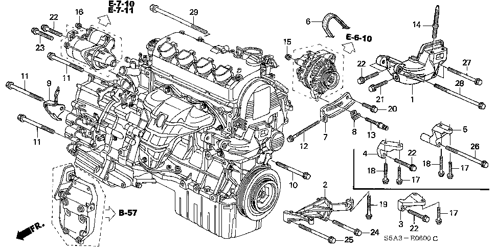 Honda Estore throughout 2001 Honda Civic Parts Diagram