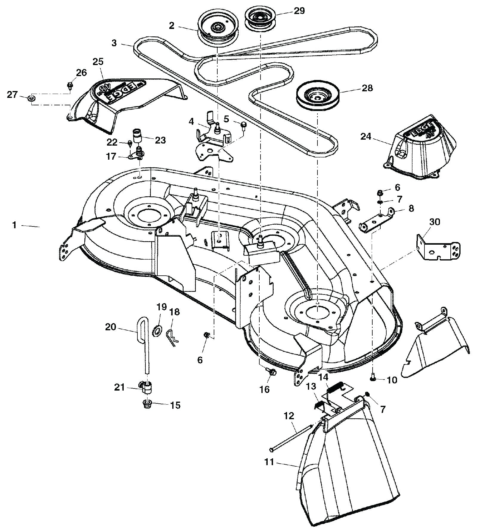 John Deere Lawn Tractor Parts Diagram