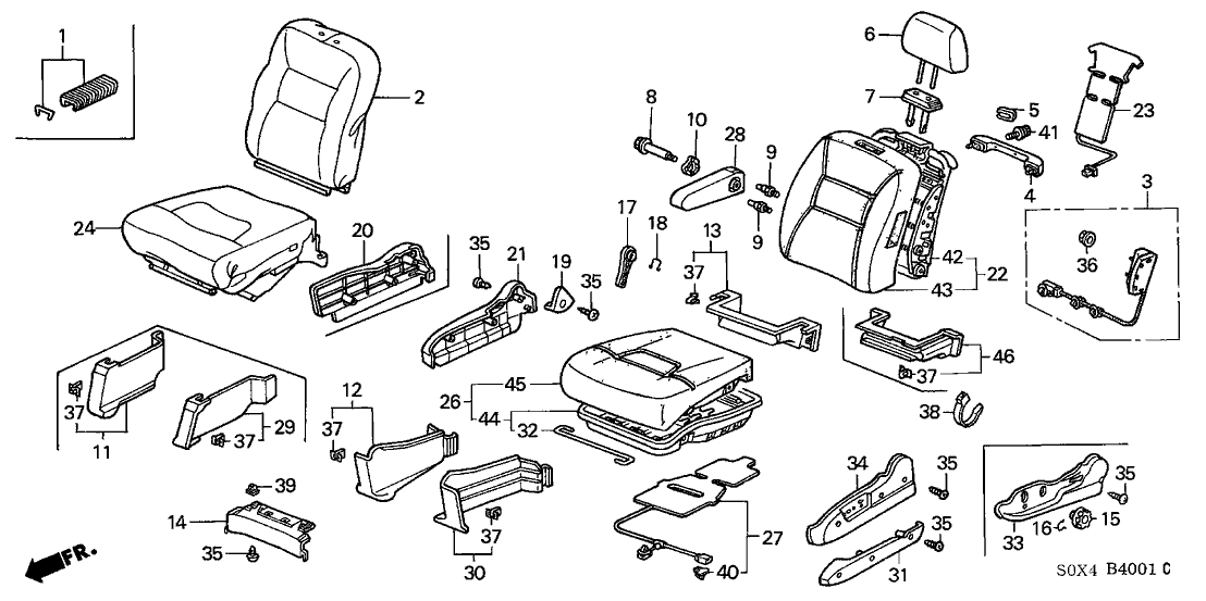 2009 honda odyssey ex engine parts diagram