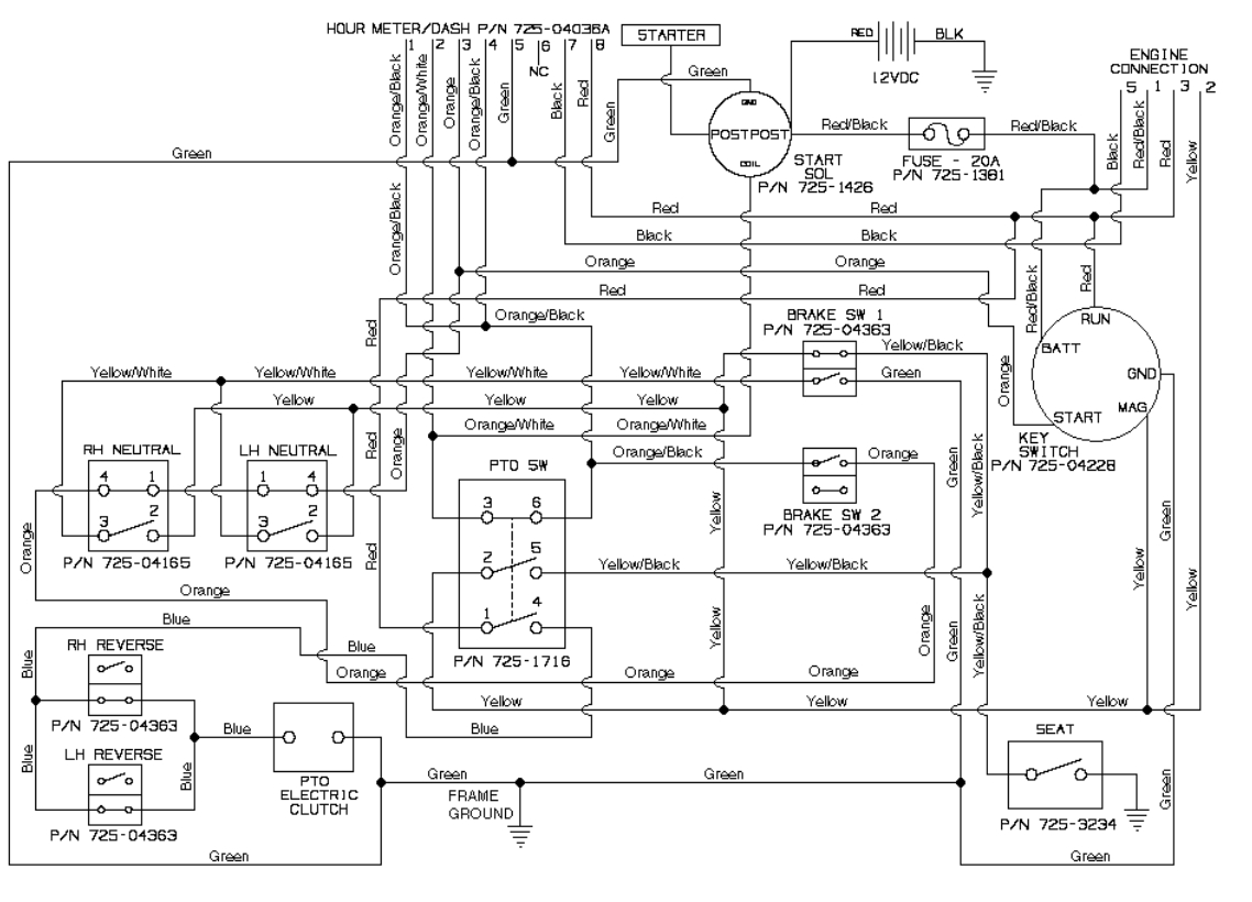 Cub Cadet Model 70 Wiring Diagram