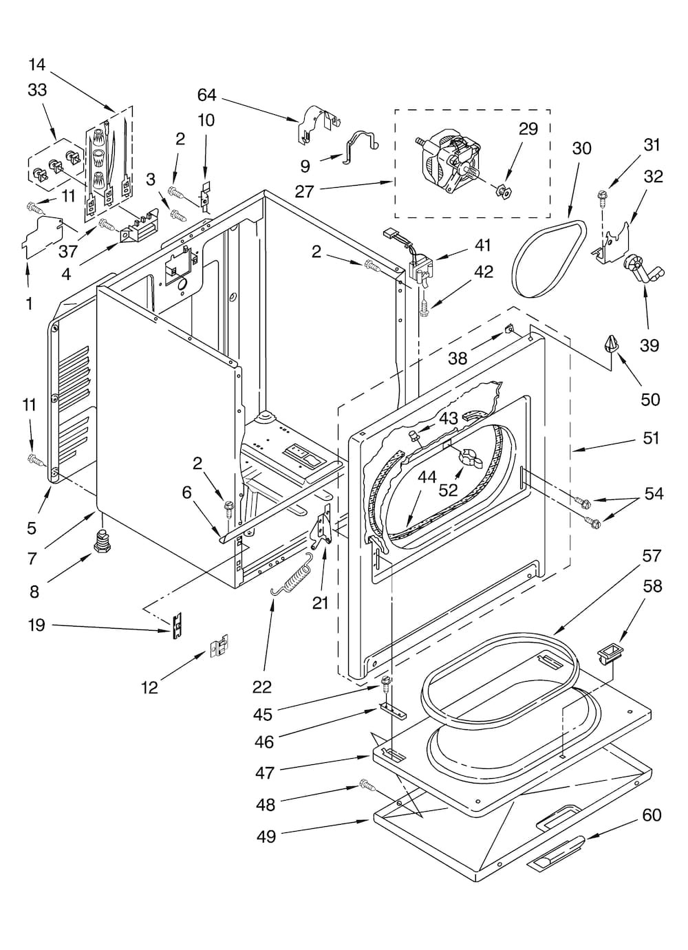 Sears Lady Kenmore Dryer Parts Model 110 On 70 Series Gas Diagram Residential Intended For 1000x1381