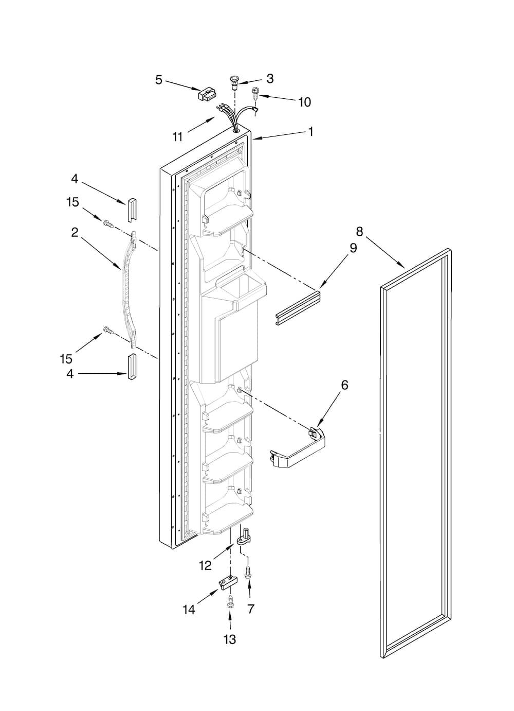 Kenmore Side By Side Refrigerator Parts Diagram