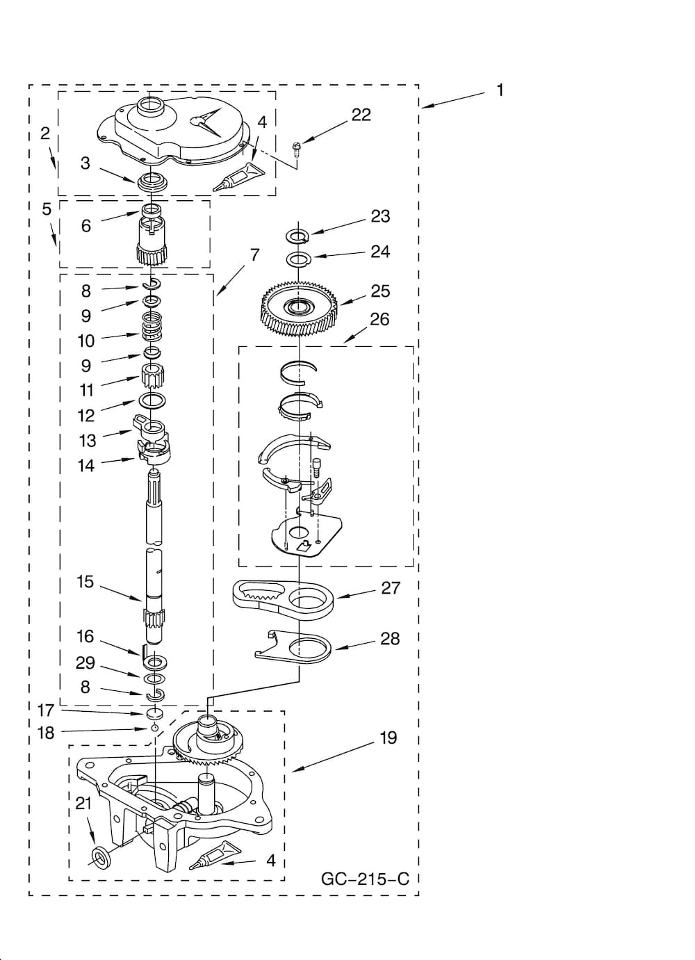 sears dryer wiring diagram bazooka bta850fh kenmore 70 series washer parts   automotive images
