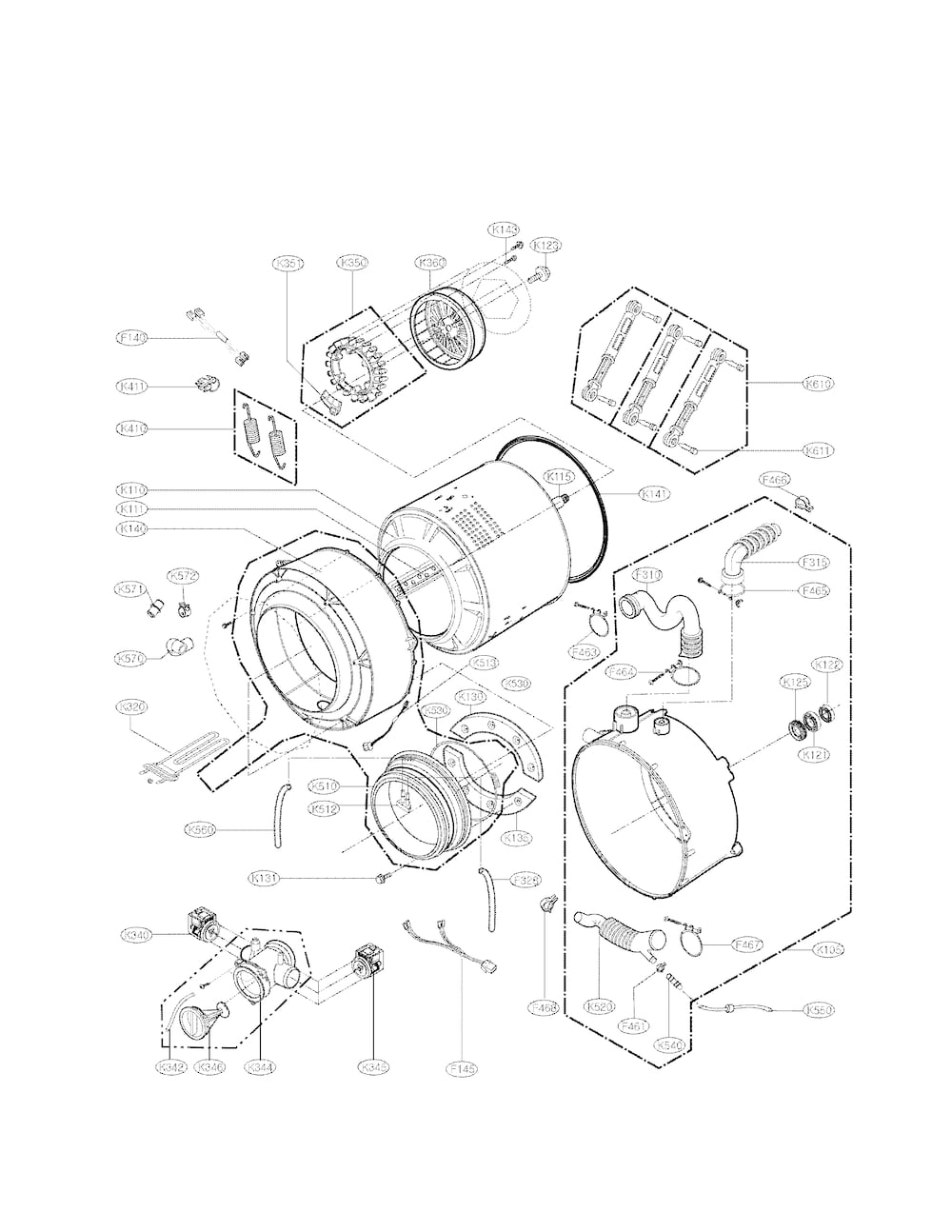 Wiring Diagram: 28 Lg Front Load Washer Diagram