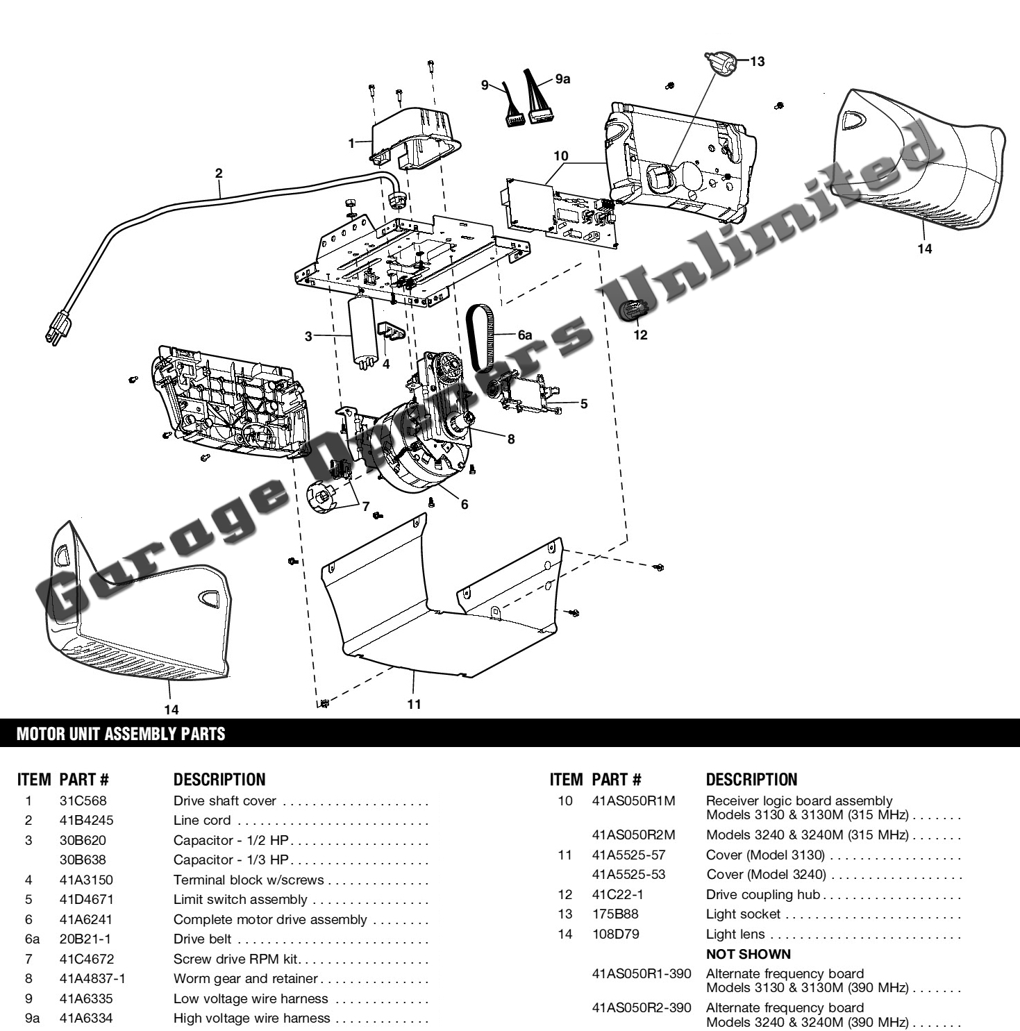 wiring diagram for garage door opener 7 pin plug liftmaster parts automotive