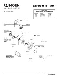 Moen Shower Faucet Parts Diagram