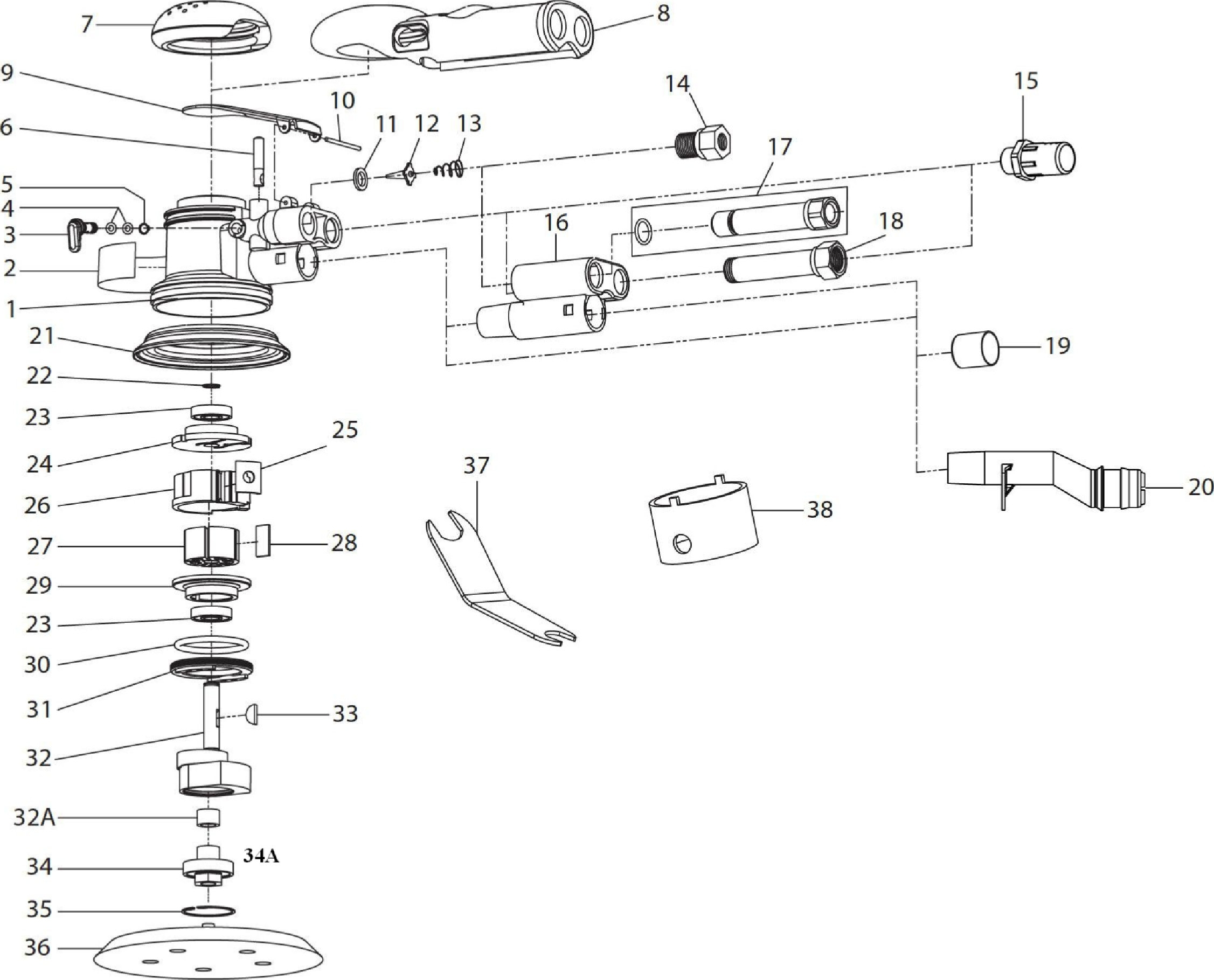 Ingersoll Rand Air Tool Parts Diagrams