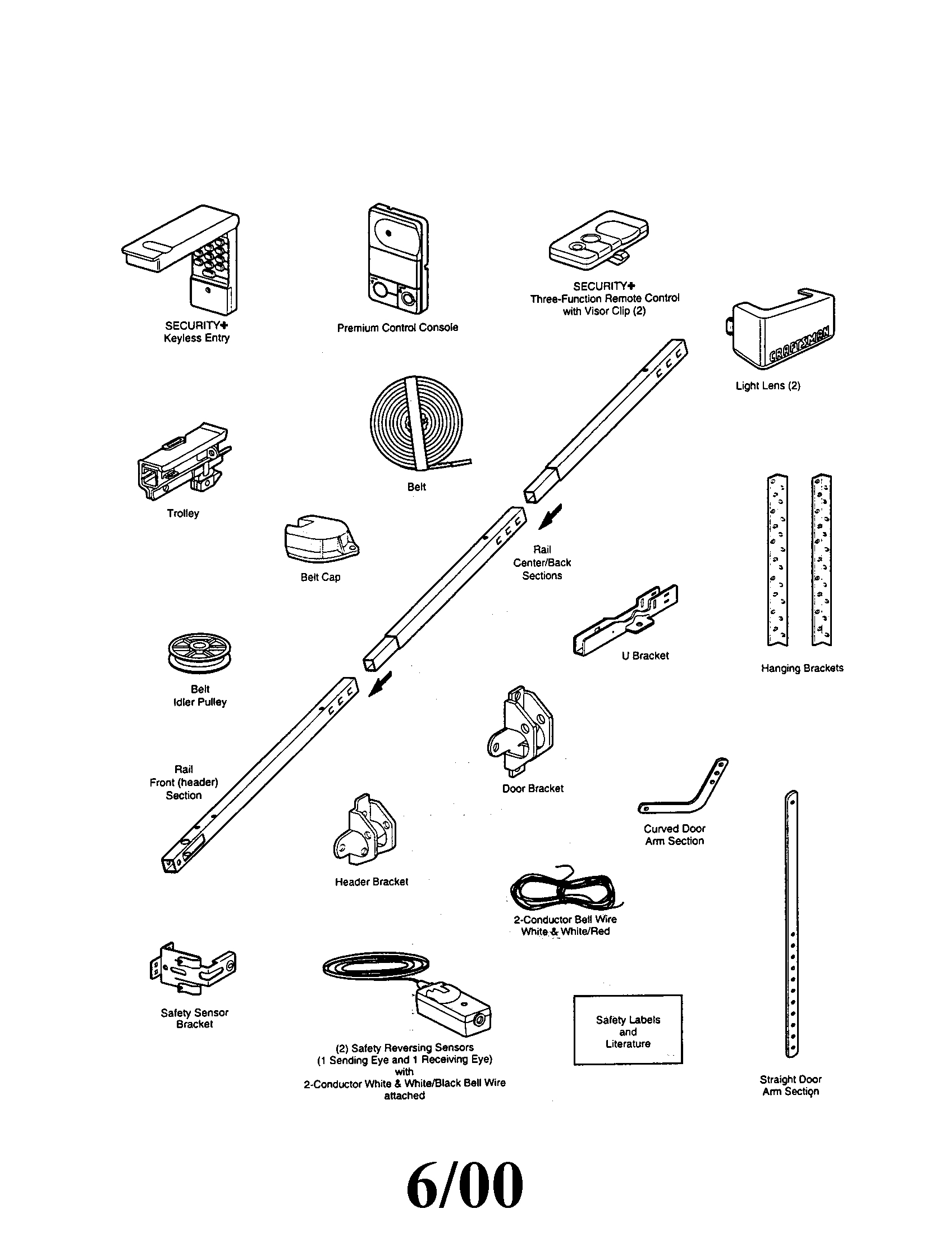 Craftsman Garage Door Opener Sensor Wiring Diagram : 50
