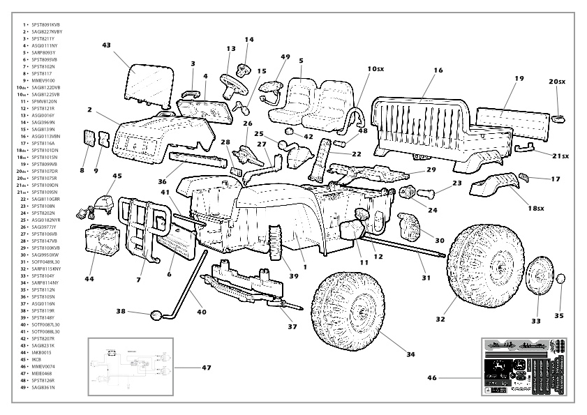 Peg Perégo John Deere Gator Manuals And Parts List : Peg