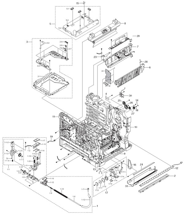 Hp 8500a Wireless Printer Diagram