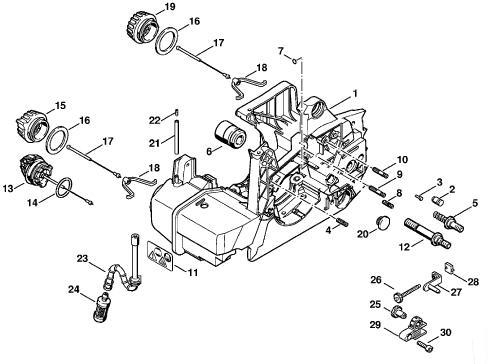 Stihl 025 Engine Chainsaw Parts Diagram
