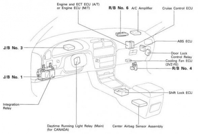 1997 toyota avalon fuse box diagram