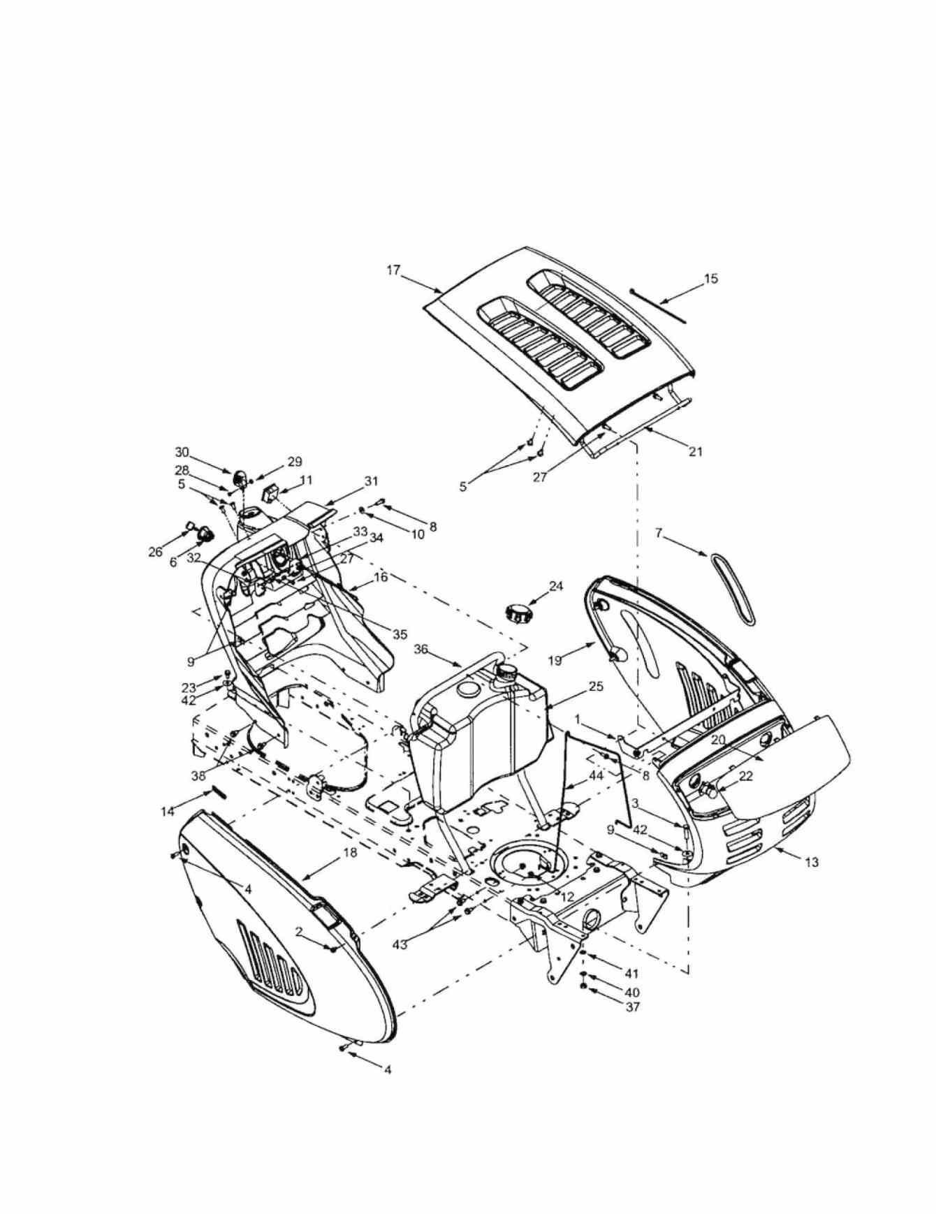 Self Propelled Mower Diagram. Catalog. Auto Parts Catalog