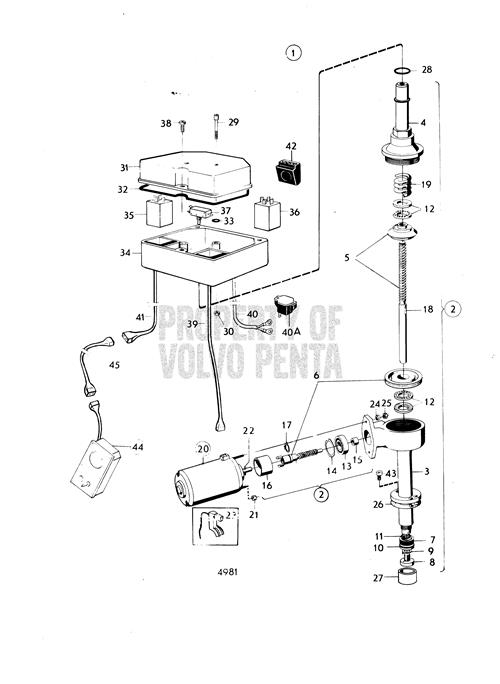 Volvo Penta Exploded View / Schematic Mechanical Lift