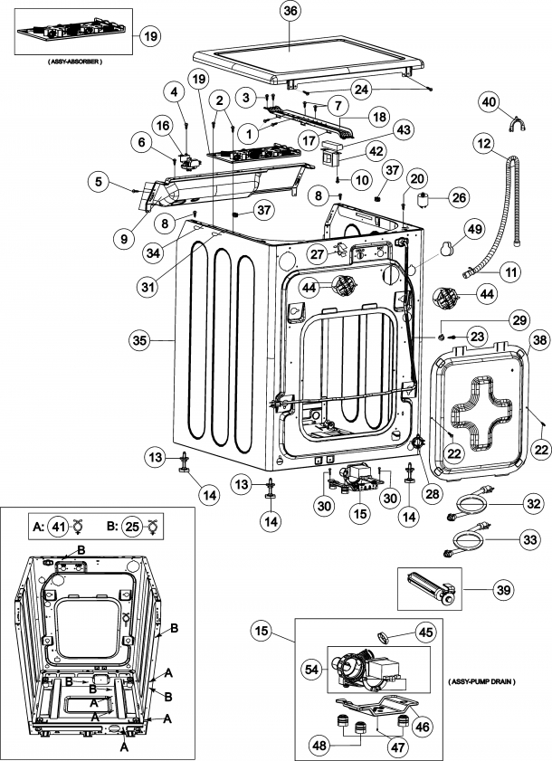 Maytag Neptune Washer Parts Diagram