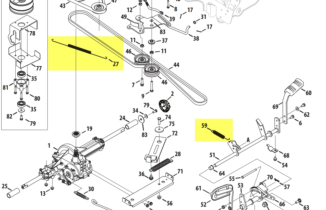 cub cadet 1045 wiring diagram 1993 ford ranger ignition for ltx 1050 – the intended parts ...