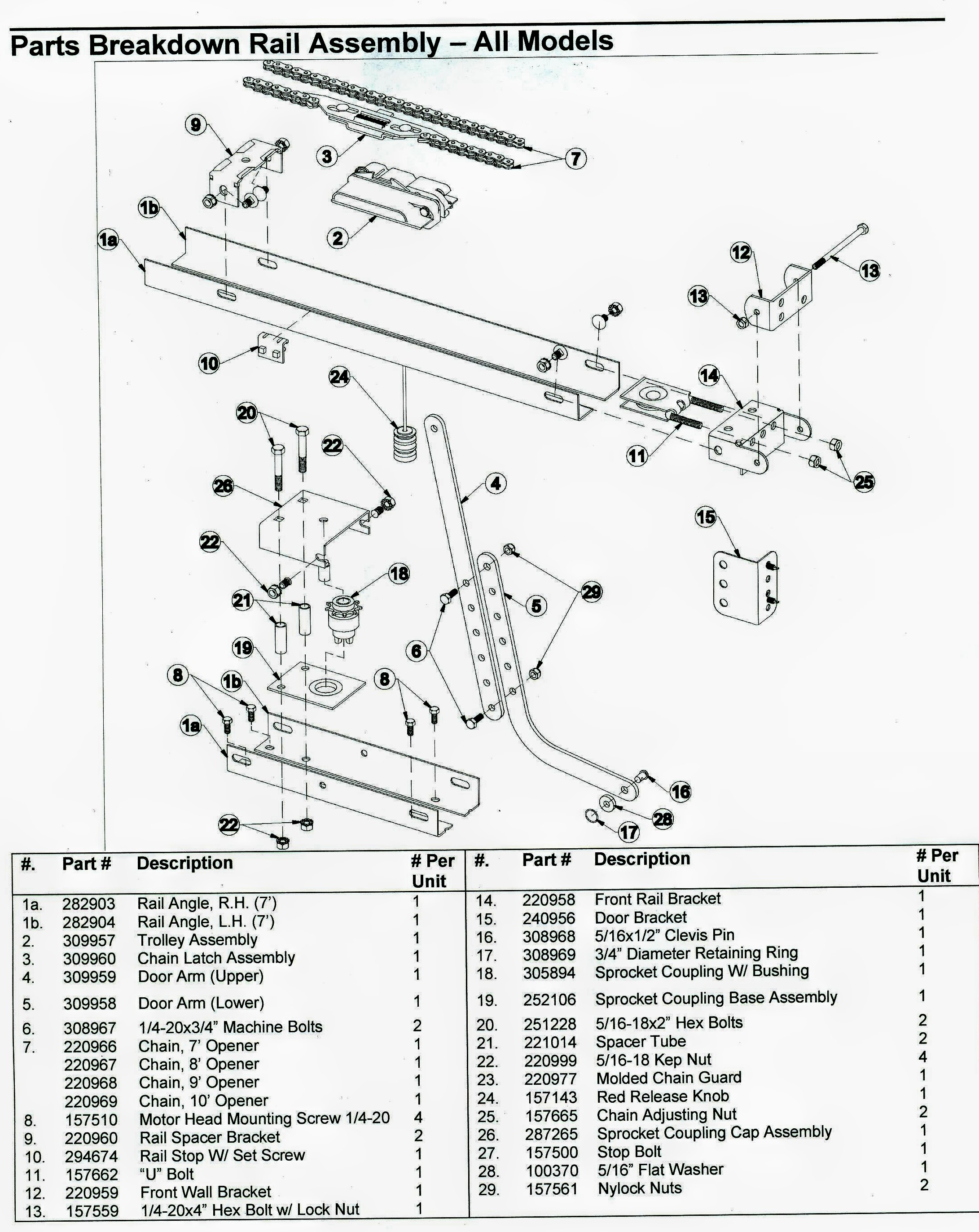 Genie Garage Door Opener Parts Diagram  Automotive Parts Diagram Images