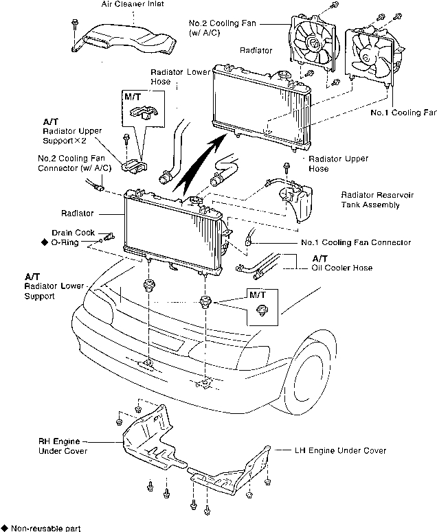 rav4 engine compartment diagram