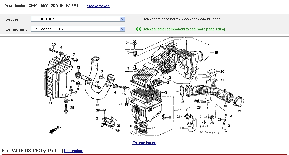 99 Honda Civic Engine Diagram. Honda. Auto Parts Catalog