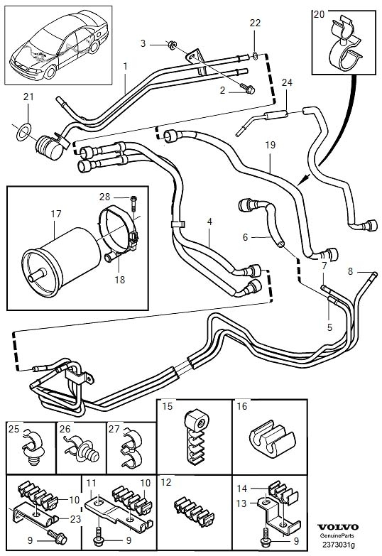 1999 V40 1.6 Fuel Pipe Size? intended for 2000 Volvo S80