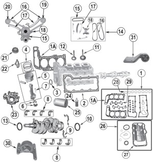 2002 Jeep Liberty Engine Diagram | Automotive Parts