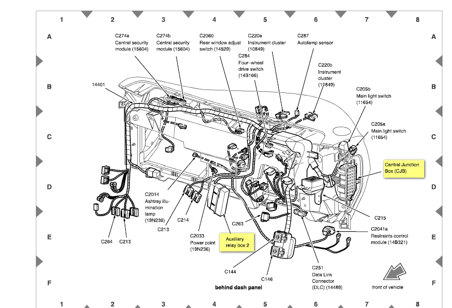 fuse box diagram for a 2003 ford escape