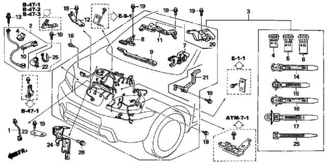 2007 Honda Pilot Ex Engine Wire Harness Diagram inside