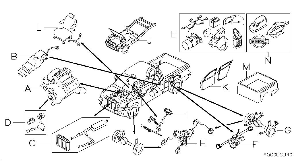 1996 nissan pickup engine diagram