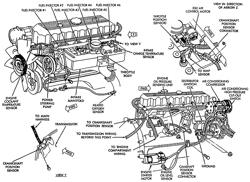 2000 jeep grand cherokee laredo engine diagram