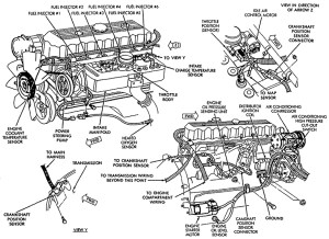 1996 Jeep Grand Cherokee Engine Diagram | Automotive Parts
