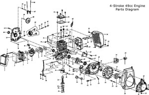 49Cc Engine Parts | BicycleEngines pertaining to 2 Cycle Engine Carburetor Diagram | Automotive