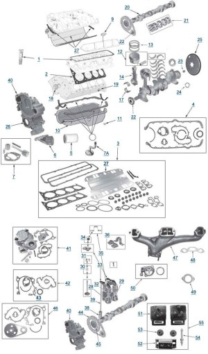 Diagram Of A V8 Engine | Automotive Parts Diagram Images