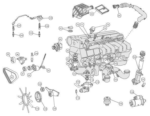 bmw e39 engine compartment diagram