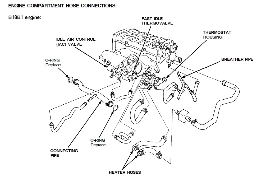 Acura Integra Thermostat Location On Honda B18b1 Engine Diagram
