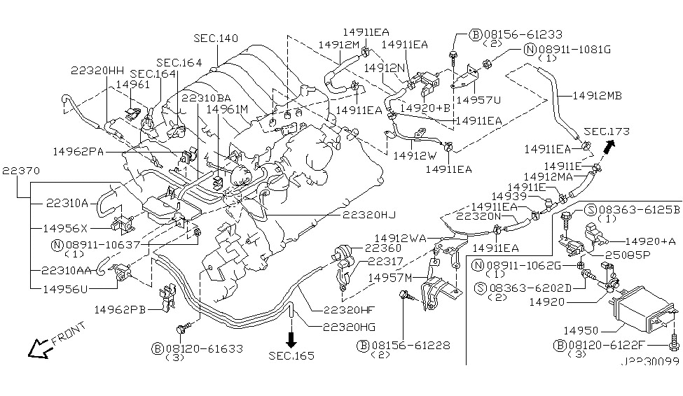 2003 Nissan Pathfinder Vacuum Diagram. Nissan. Auto Parts